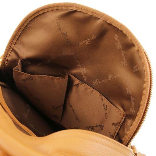 TL Bag Zaino donna in pelle morbida Cognac TL141532