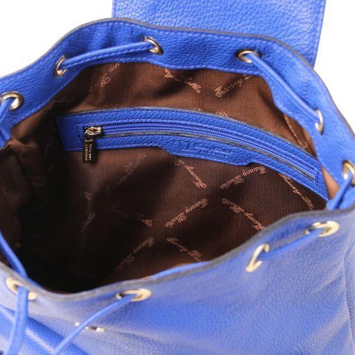 Sapporo Zaino donna in pelle morbida Blu TL141553