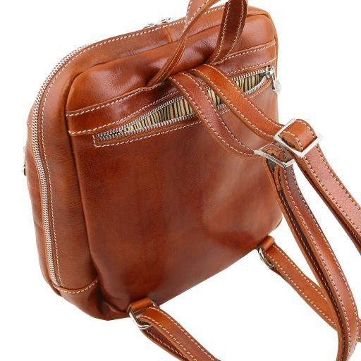 Manila Leather backpack Brown TL141557