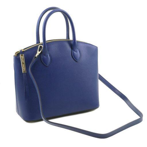 TL KeyLuck Borsa shopper in pelle Saffiano - Misura piccola Blu TL141579