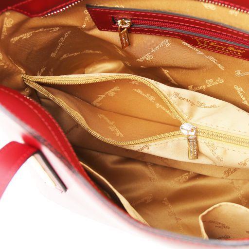 Olimpia Borsa shopper in pelle - Misura piccola Lilla TL141591