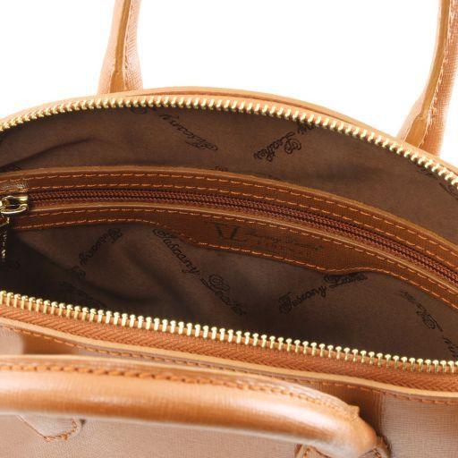 TL KeyLuck Borsa shopper in pelle Saffiano - Misura piccola Rosso TL141579