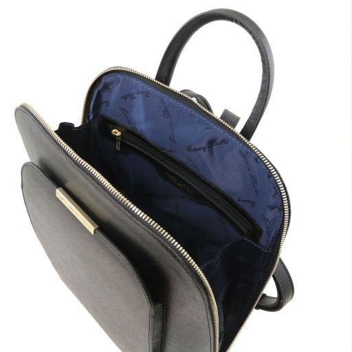 TL Bag Saffiano leather backpack for women Black TL141631