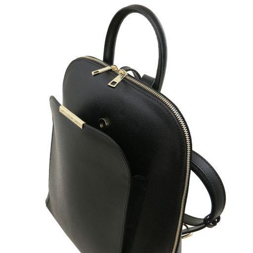 TL Bag Zaino donna in pelle Saffiano Nero TL141631