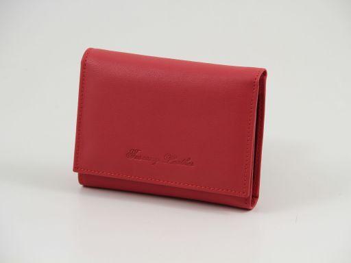 Esclusivo portafogli in pelle nappata Rosso TL140906