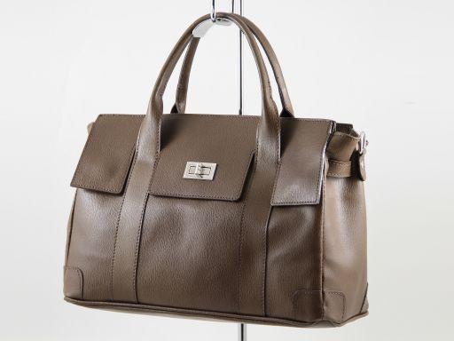 Eva Handtasche aus Leder - Klein Tannengrün TL140919