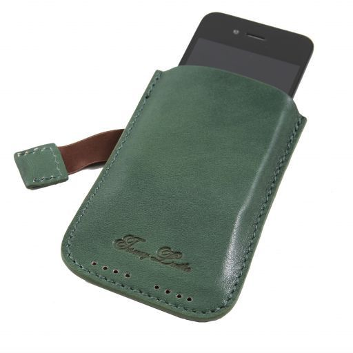 Esclusivo porta iPhone3 iPhone4/4s in pelle Verde TL140927