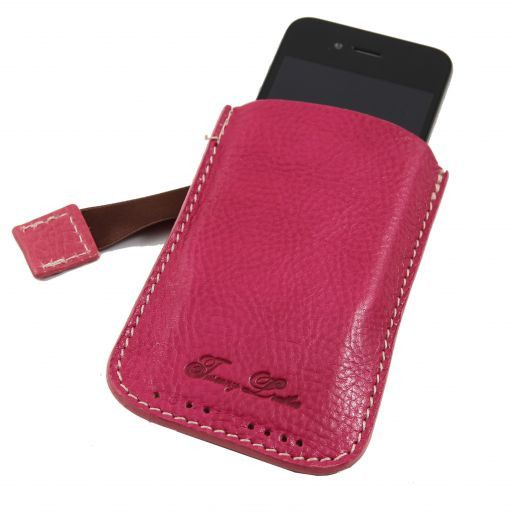 Esclusivo porta iPhone3 iPhone4/4s in pelle Fucsia TL140927
