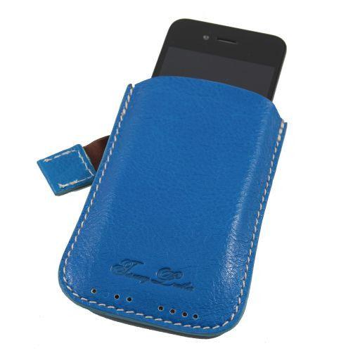 Leather iPhone3 iPhone4/4s holder Голубой TL140927