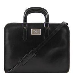 Alba Serviette en cuir pour femme 1 compartiment Noir TL140961