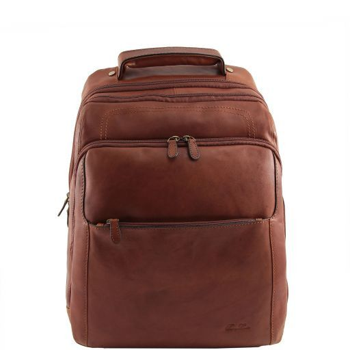 Phuket Zaino portanotebook in pelle Marrone TL140978