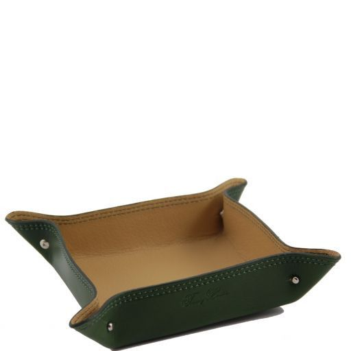 Esclusivo vuotatasche in pelle Verde TL140982