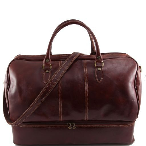 Liverpool Travel leather bag Brown TL141000