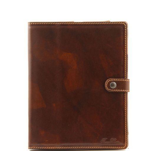 Esclusivo porta iPad in pelle Marrone TL141001