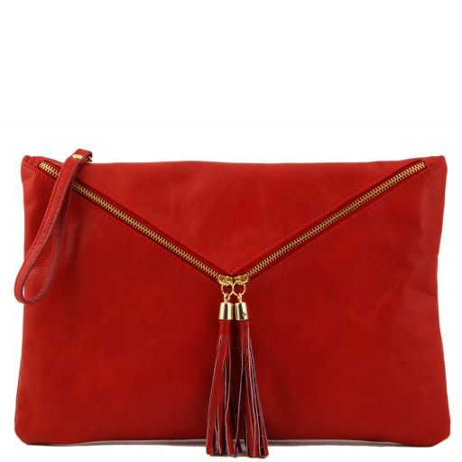 Audrey Pochette in pelle - Misura grande Rosso TL141033