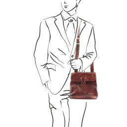 Andrea Leather Crossbody Bag Brown TL9087
