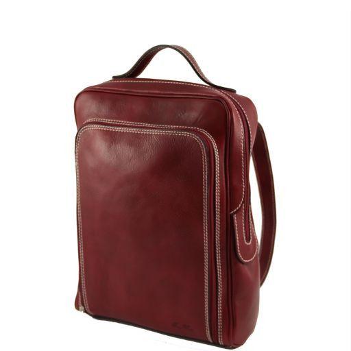 Bangkok Zaino portanotebook in pelle Rosso TL141063