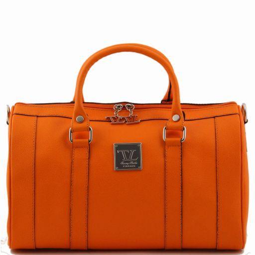 TL Bag Mittelgroßer Bauletto aus Leder Orange TL141079