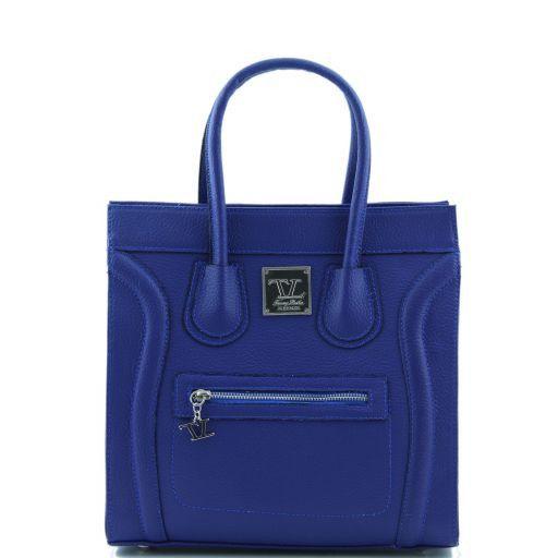 TL Bag Textured leather handbag Синий TL141090