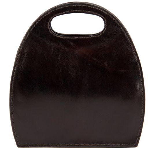 Carmen Borsa in pelle con manico ovale Testa di Moro TL6088