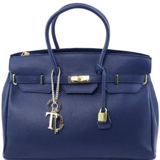 TL KeyLuck Sac à main pour femme avec finitions couleur or Bleu foncé TL141092