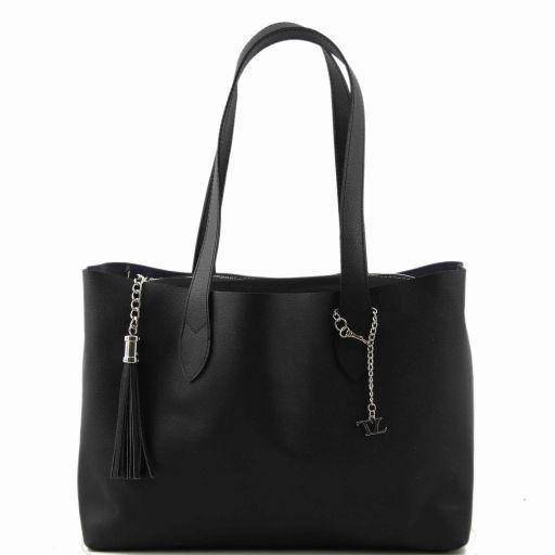 TL Bag Shopper doppia con nappa Nero TL141093