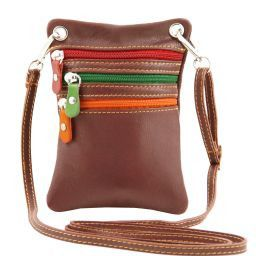 TL Bag Soft leather mini cross bag Brown TL141094