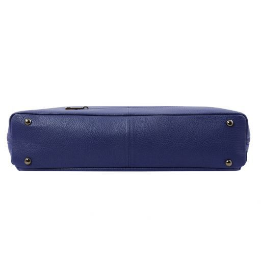Lucca TL SMART business bag in soft leather for women Dark Blue TL141630