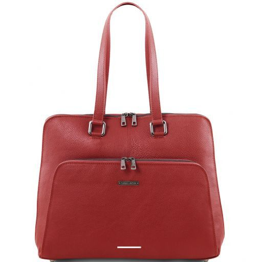 Lucca TL SMART business bag in soft leather for women Red TL141630
