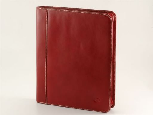 Enrico VIII Portadocumenti in pelle Rosso TL10093