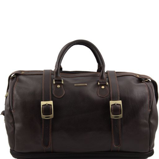 TL Travel Дорожная кожаная сумка weekender раздвижная Темно-коричневый TL151105