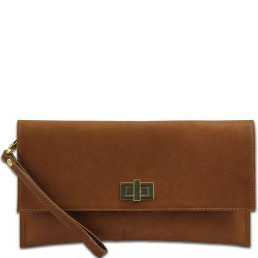 TL Bag Pochette in pelle Cognac TL141109