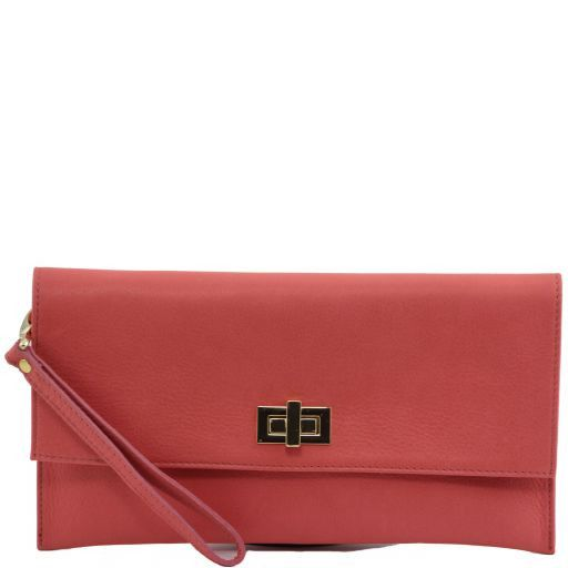 TL Bag Pochette in pelle Corallo TL141109