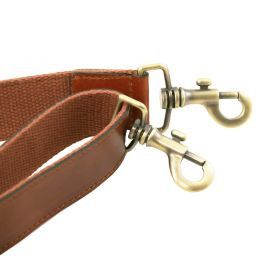 Adjustable briefcases leather shoulder strap Honey TL141611