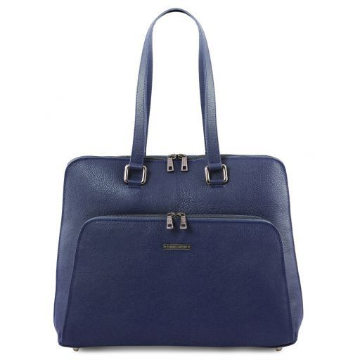 Lucca TL SMART business bag in soft leather for women Темно-синий TL141630