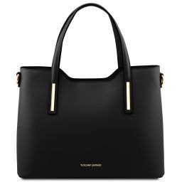 Olimpia Borsa shopping in pelle Nero TL141412
