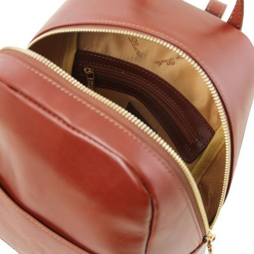 TL Bag Small leather backpack for woman Коричневый TL141614