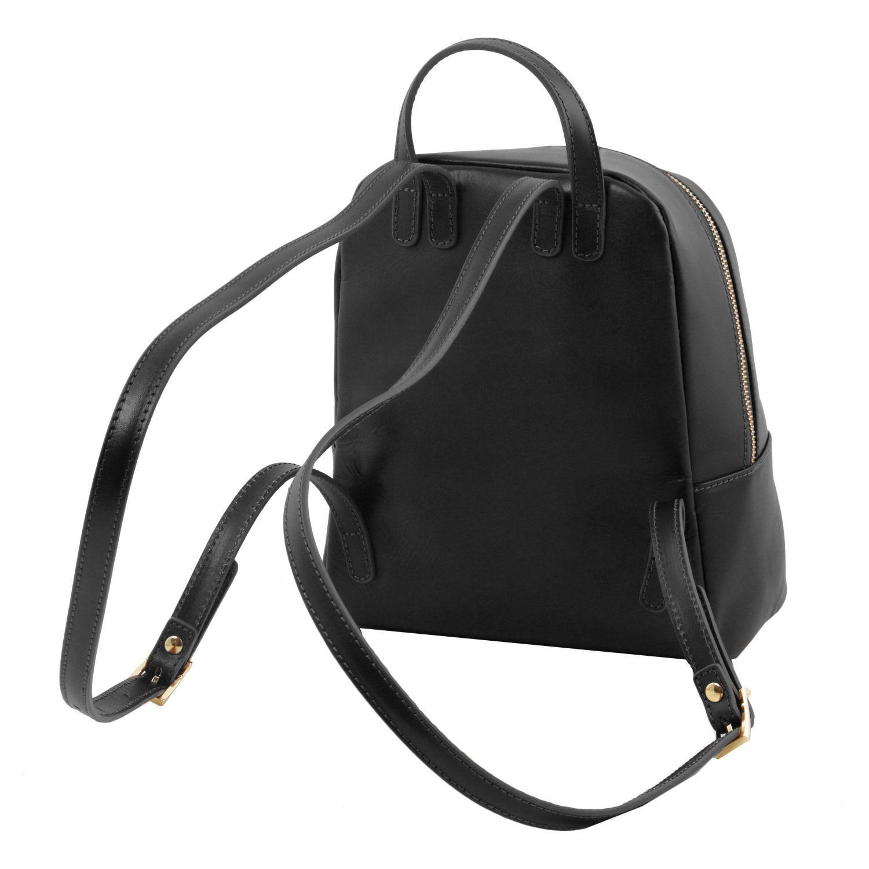 tl bag petite sac dos en cuir pour femme noir tl141614. Black Bedroom Furniture Sets. Home Design Ideas