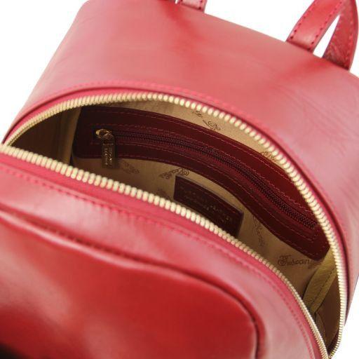 TL Bag Zaino piccolo in pelle da donna Rosso TL141614