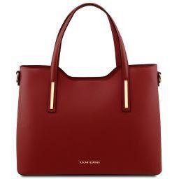 Olimpia Shopping Tasche aus Leder Rot TL141412
