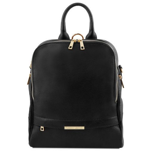 TL Bag Soft leather backpack for women Black TL141376