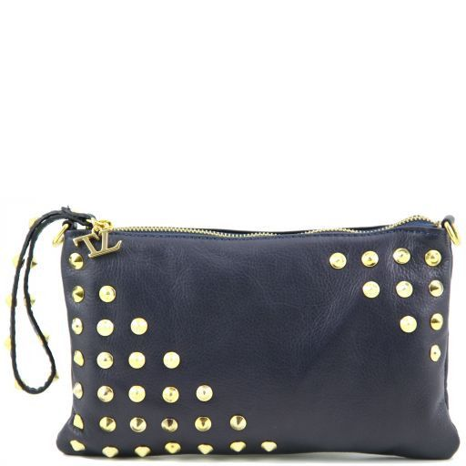 TL Rockbag Borsa con borchie sul manico - Piccola Blu TL141123