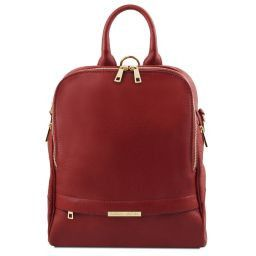 TL Bag Soft leather backpack for women Red TL141376