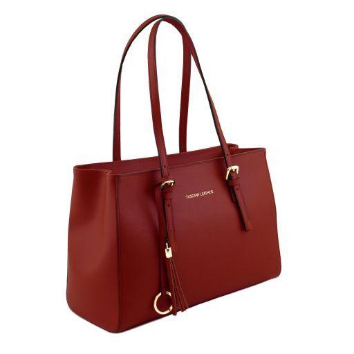 TL Bag Borsa a mano in pelle Saffiano Rosso TL141518