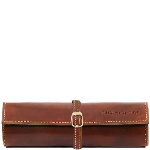 Exclusive leather jewellery case Brown TL141621