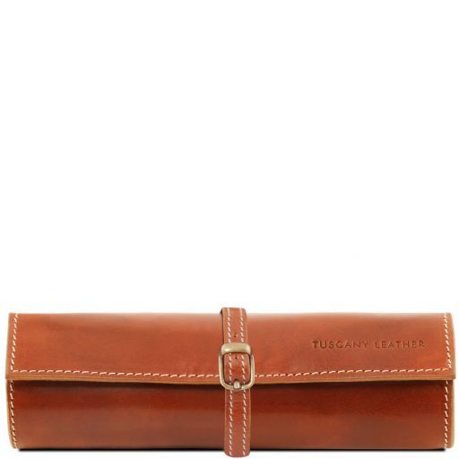 Exclusive leather jewellery case Honey TL141621