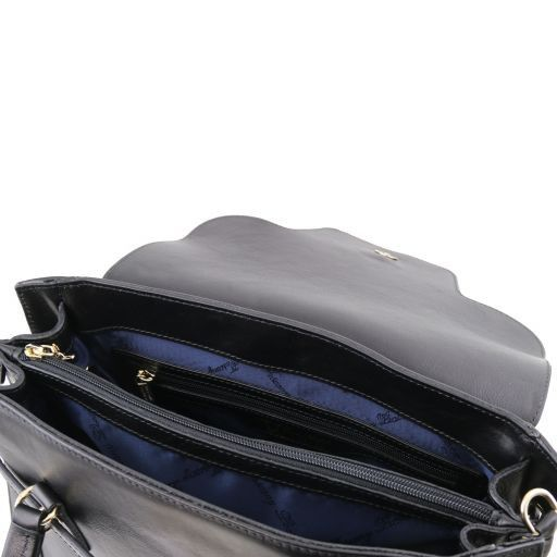 TL NeoClassic Lady leather handbag with twist lock Black TL141230
