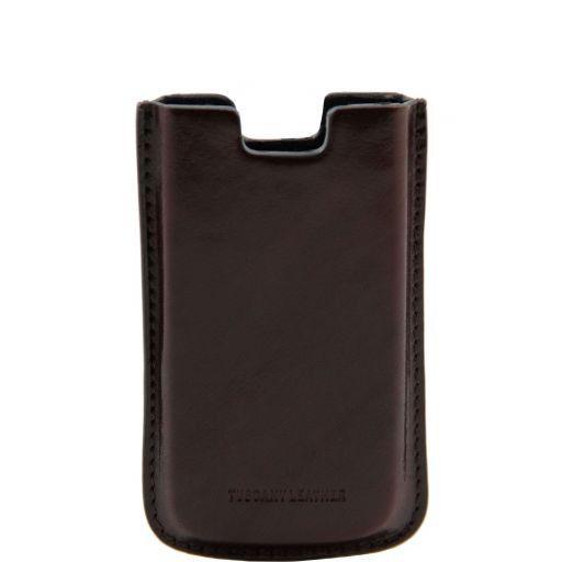 Sacoche pour iPhone SE/5s/5 en cuir Marron foncé TL141128