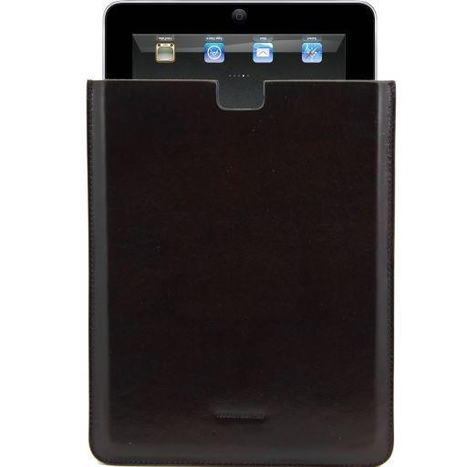 Etui pour iPad en cuir Marron foncé TL141129