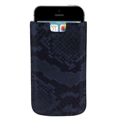 iPhone SE/5s/5 Etui aus Pythonleder Blau TL141130